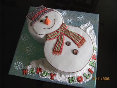 Pleasant Snowman Cake Idea Personalised Birthday Cards Veneteletsinfo