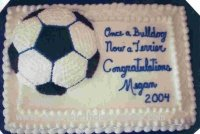 soccer ball sheet cake