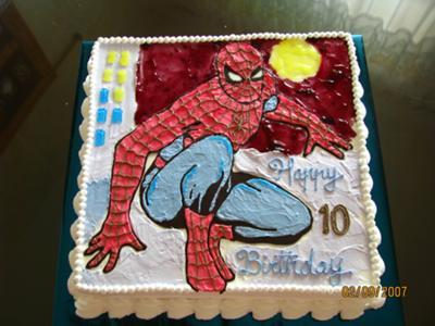 Terrific Spiderman Birthday Cake Funny Birthday Cards Online Alyptdamsfinfo