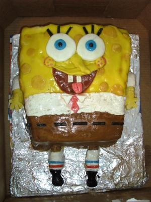 Mack's 5th Birthday Sponge Bob Square Pants Cake