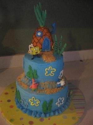 Spongebob and Friends Cake