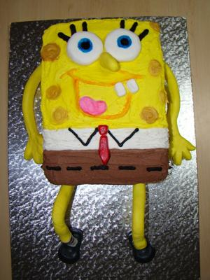 Wondrous Spongebob Squarepants Birthday Cake For A Three Year Old Personalised Birthday Cards Bromeletsinfo