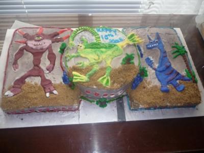 SPORE Themed Cake