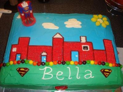 Girly Superman Cake