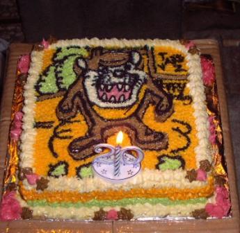 Vangie's Tasmanian Devil Birthday Cake
