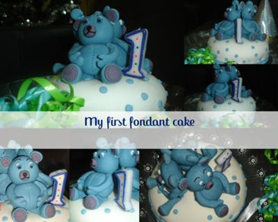 Teddy Bear First Birthday Cake