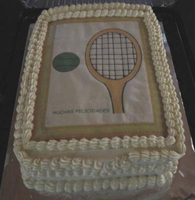 Tennis Player Birthday Cake
