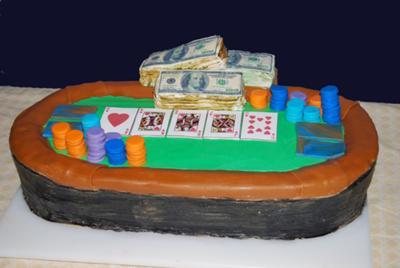 Miraculous Texas Holdem Table Cake Personalised Birthday Cards Veneteletsinfo