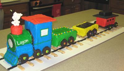 Logan's 2nd Birthday Train Cake