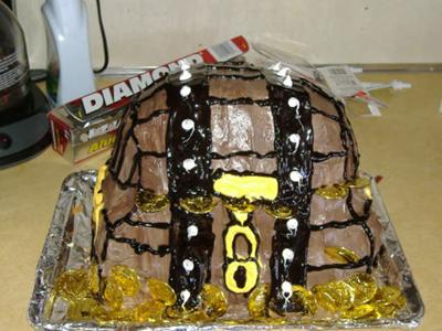 Camerin's Treasure Chest Birthday Cake 2008