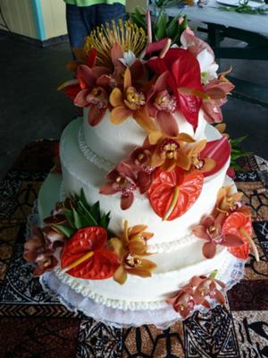 Tropical Wedding Cake