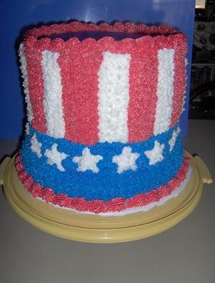 Uncle Sam Hat Cake