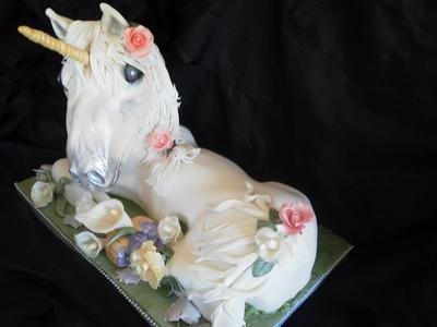 3D Unicorn Sculpted Cake