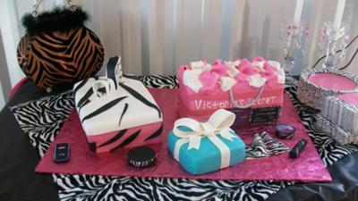 Victoria Secret, Tiffany and Shoe Box Cake
