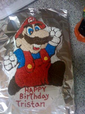 Excellent Vintage Super Mario Brothers Cake Funny Birthday Cards Online Bapapcheapnameinfo