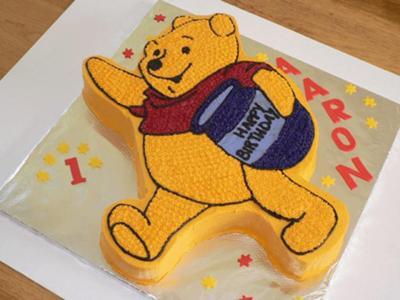 Tremendous Winnie The Pooh Birthday Cake Funny Birthday Cards Online Necthendildamsfinfo